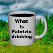 What is Fabrizio Drinking?