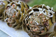 Dutch oven Stuffed Artichokes