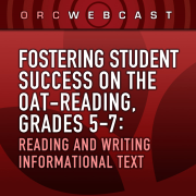 Fostering Student Success on the OAT-Reading, Grades 5-7