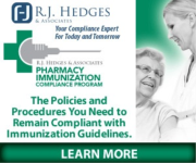 Pharmacy Podcast Episode 58 Pharmacy Immunization Compliance Program by RJ Hedges